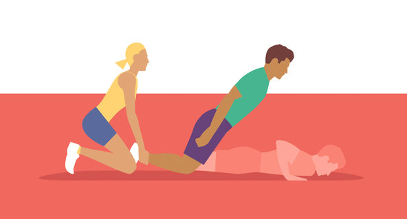 Nordic Hamstring Exercise - illustration by Ben Wiseman.
